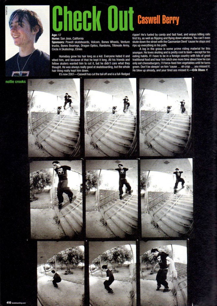 Check Out with his first nollie crooks. seq Olsen