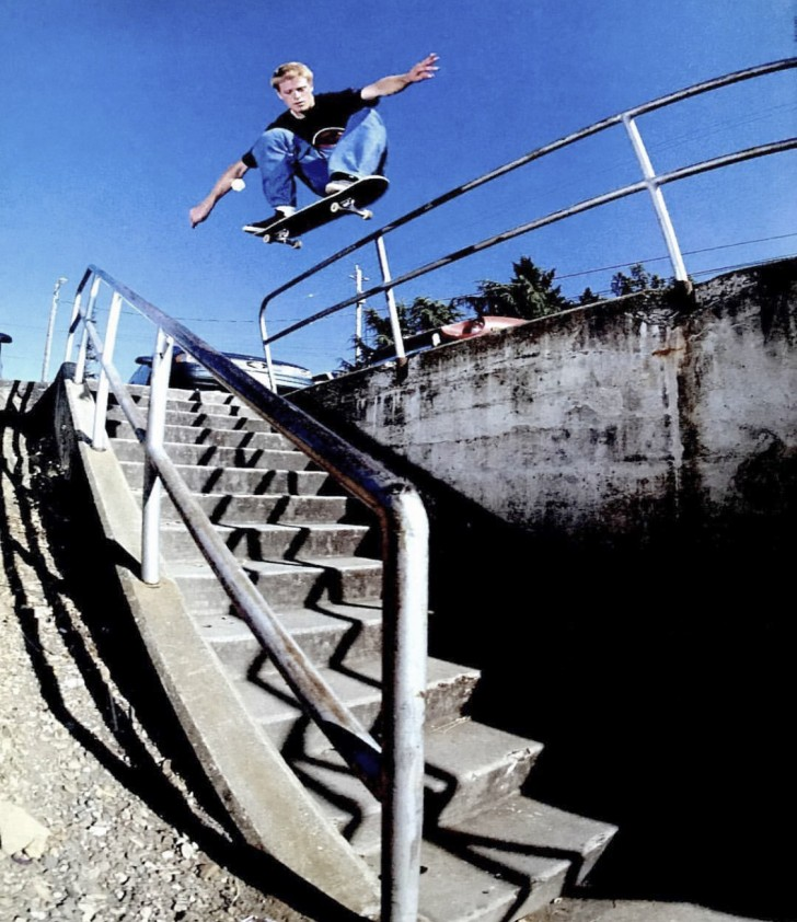 Mike Crabtree ollied big sets of stairs in the early 1990's